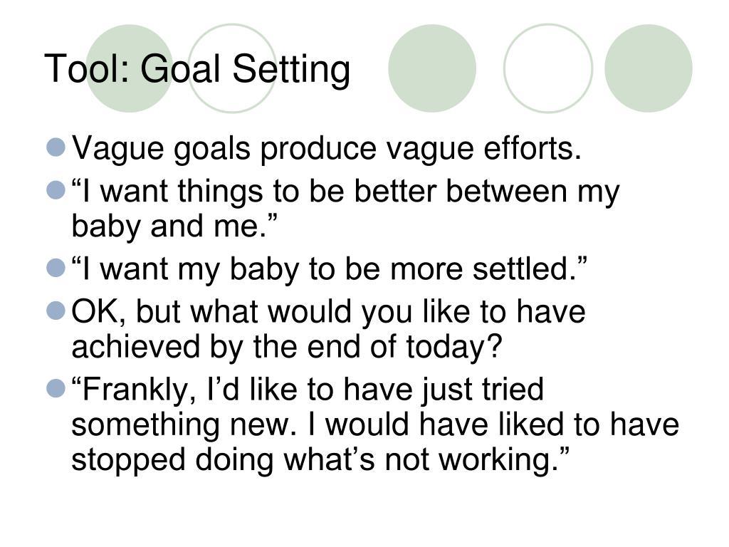 Tool: Goal Setting