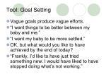 tool goal setting