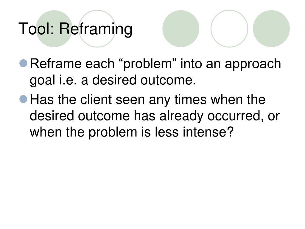 Tool: Reframing