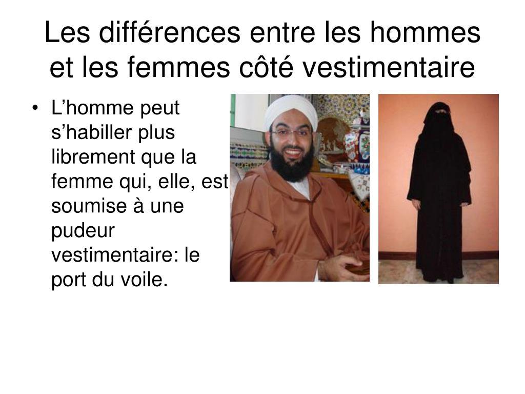 Les différences entre les hommes et les femmes côté vestimentaire