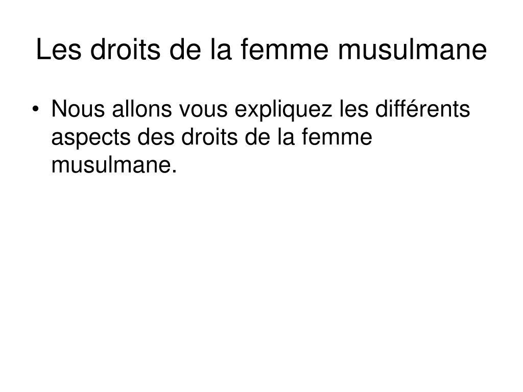 Les droits de la femme musulmane