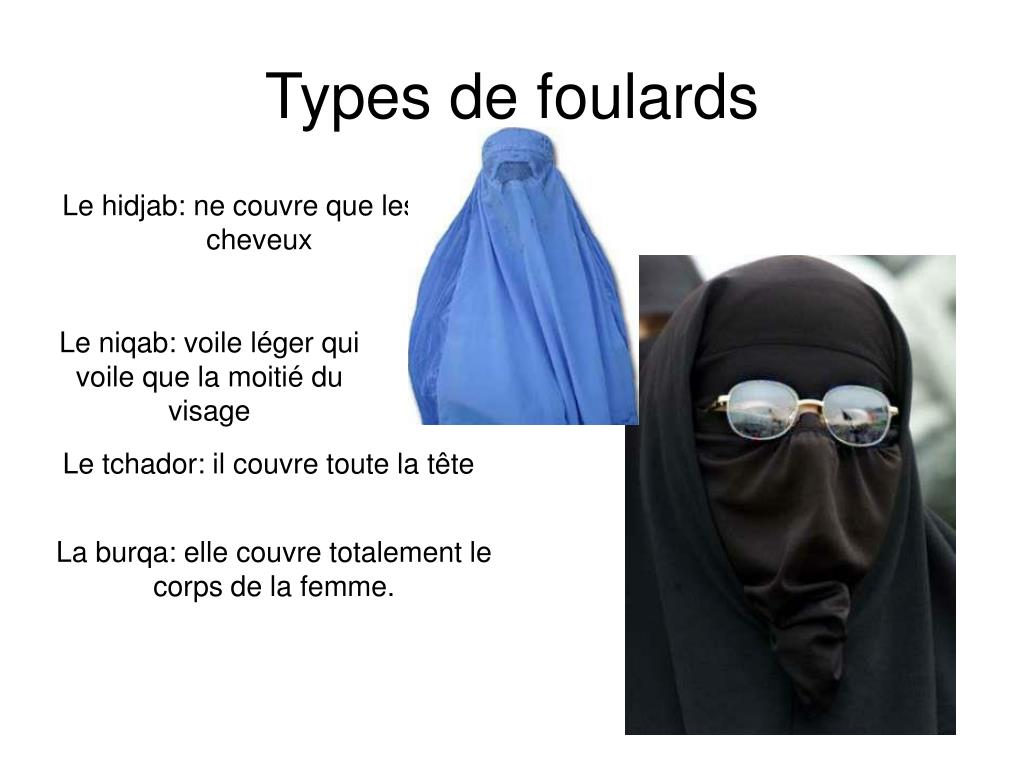 Types de foulards