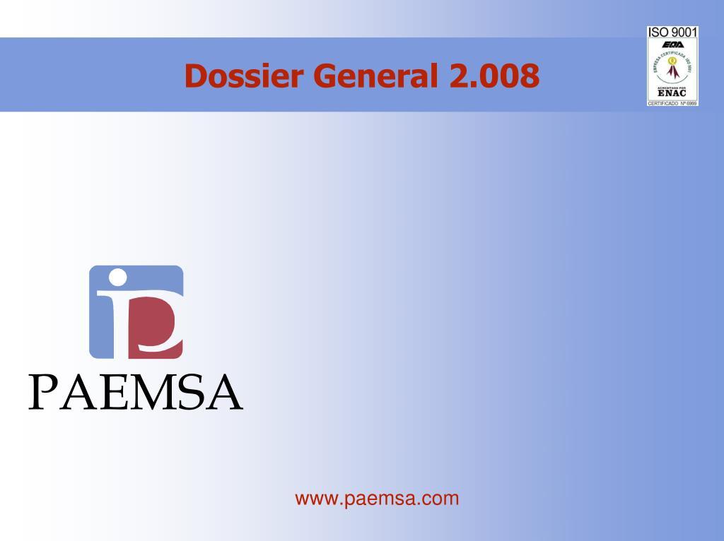 Dossier General 2.008