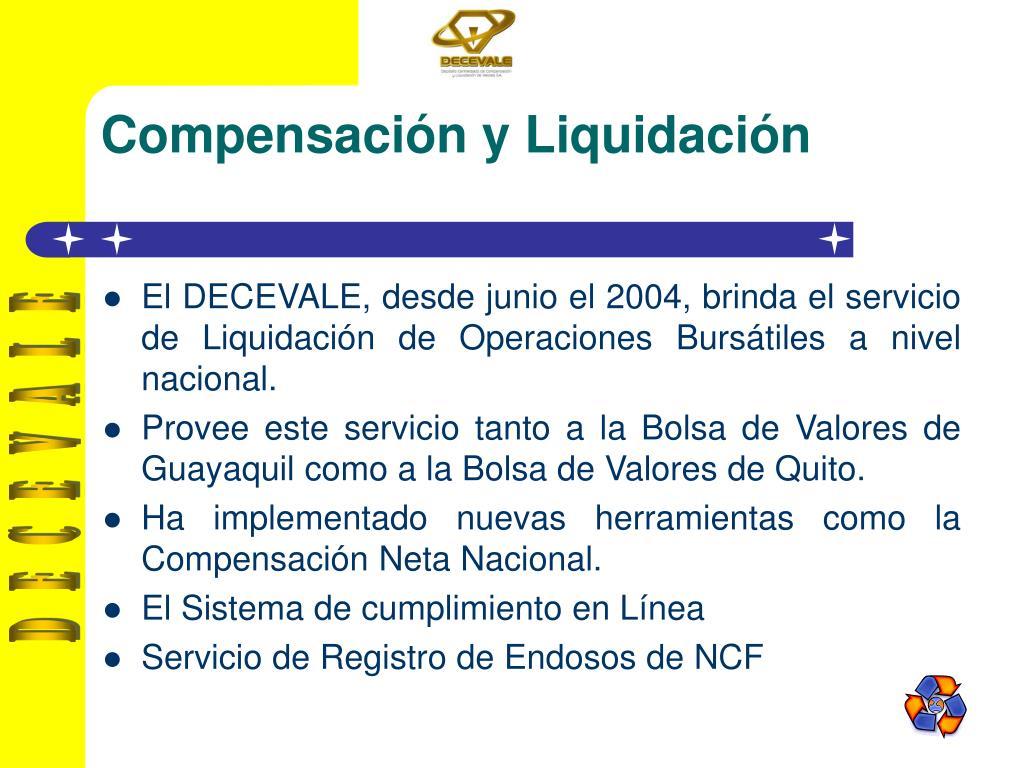 Compensación y Liquidación