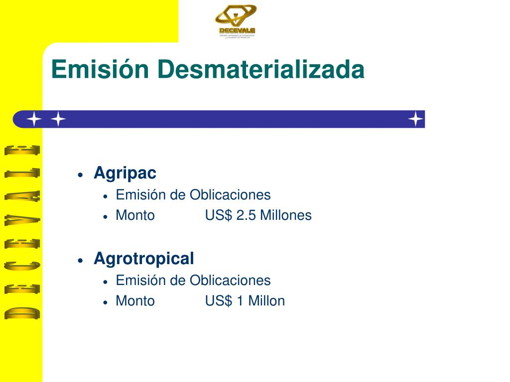 Emisión Desmaterializada