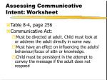 assessing communicative intent worksheet