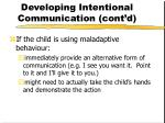 developing intentional communication cont d30