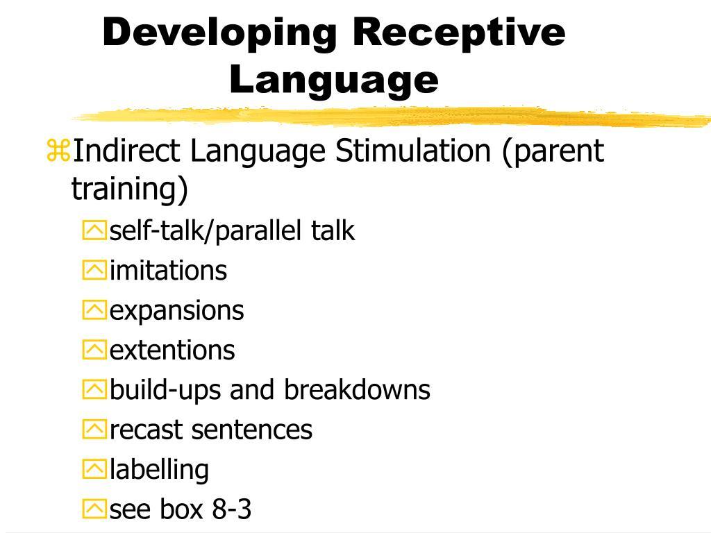 Developing Receptive Language