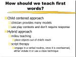 how should we teach first words