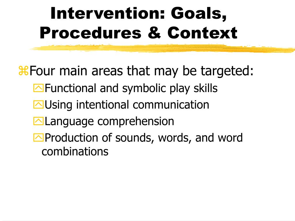 Intervention: Goals, Procedures & Context
