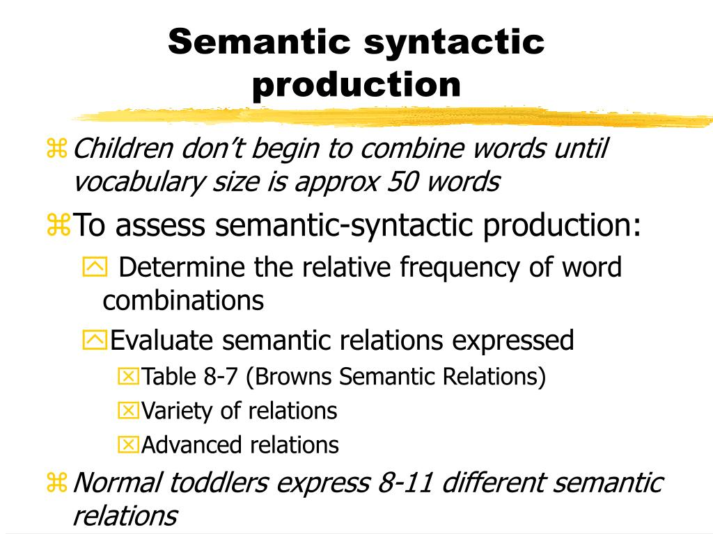 Semantic syntactic