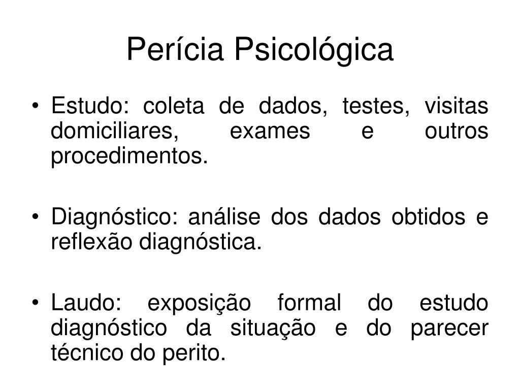 Perícia Psicológica