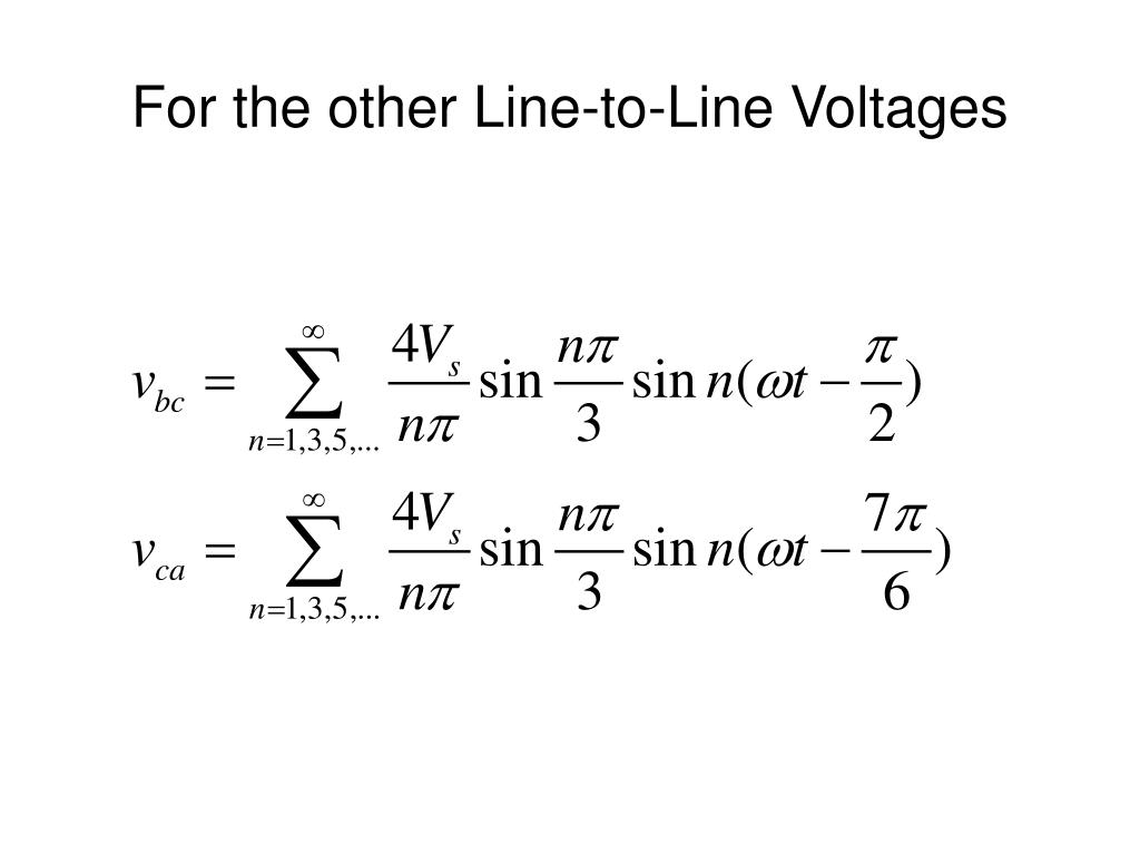 For the other Line-to-Line Voltages