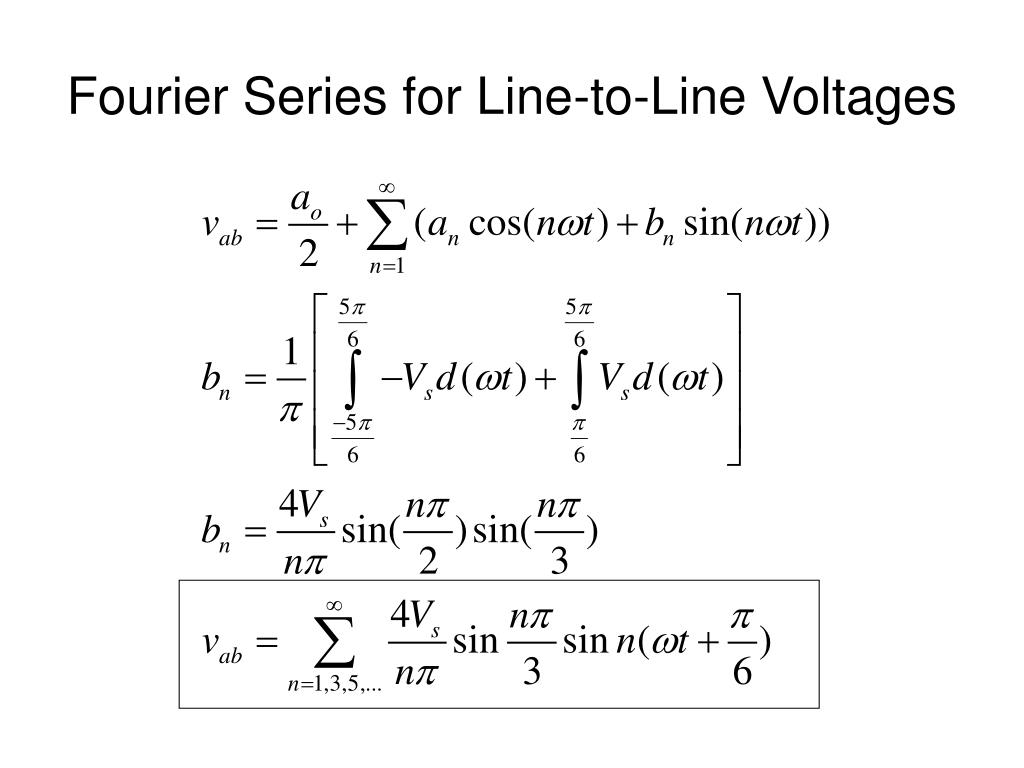 Fourier Series for Line-to-Line Voltages