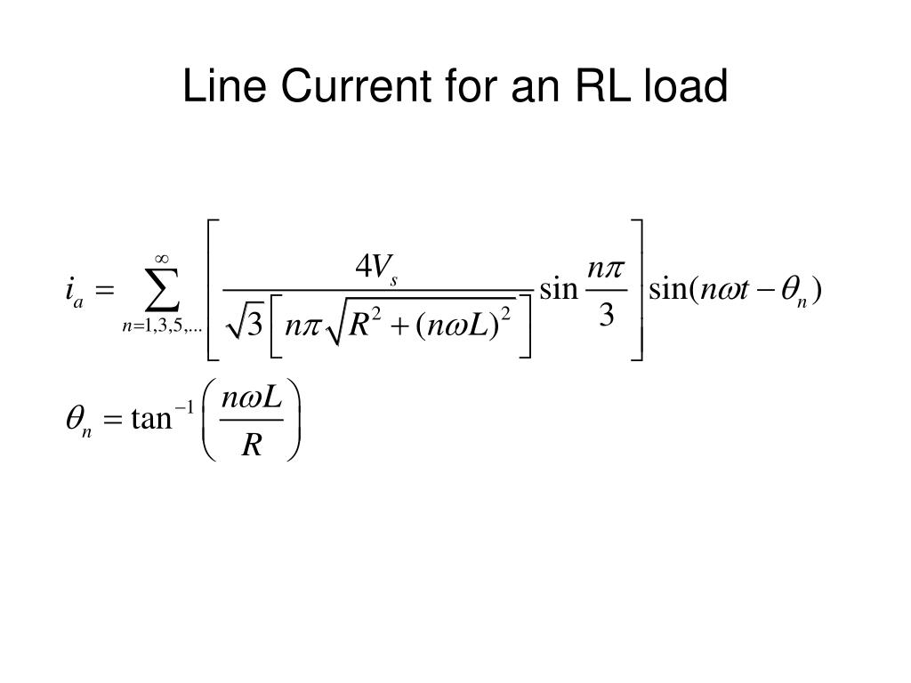 Line Current for an RL load