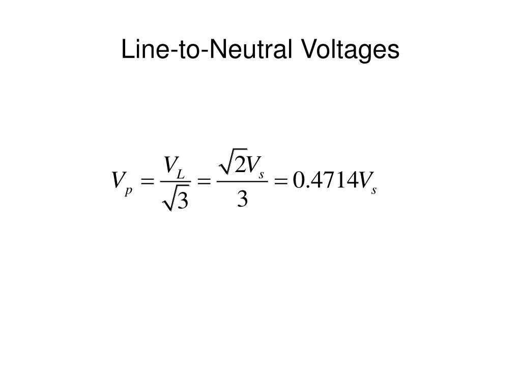 Line-to-Neutral Voltages