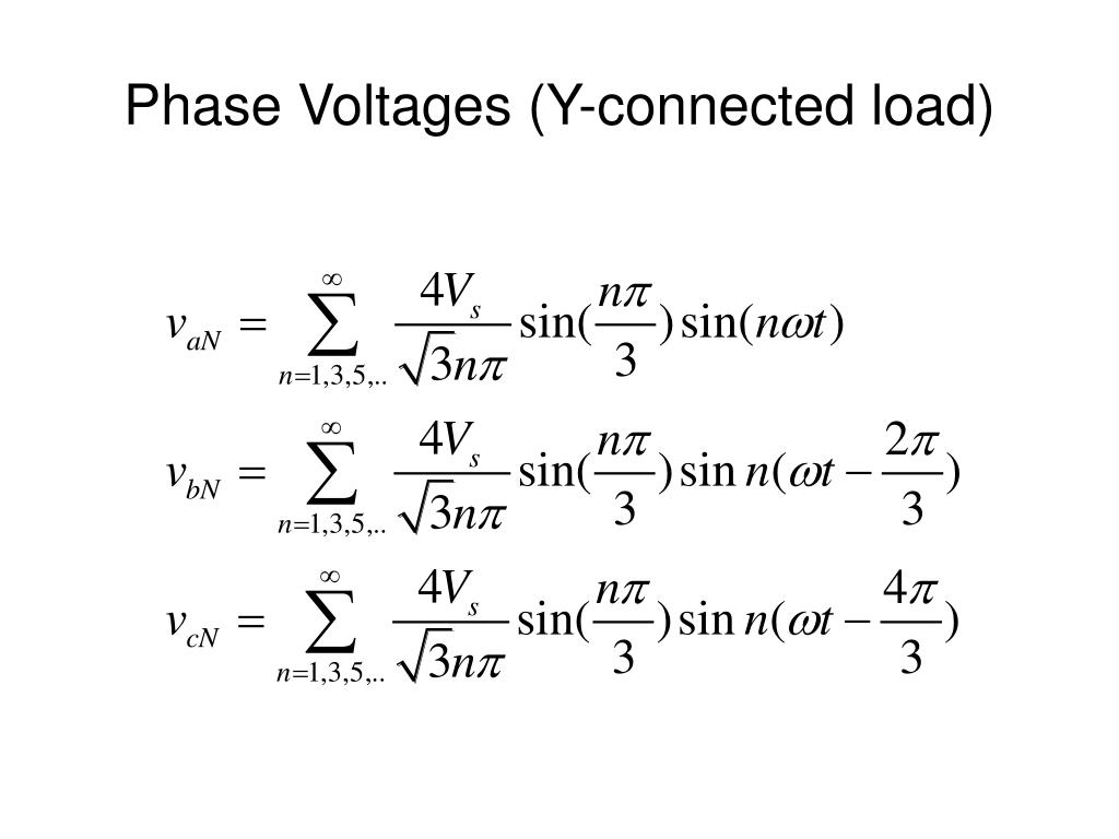 Phase Voltages (Y-connected load)
