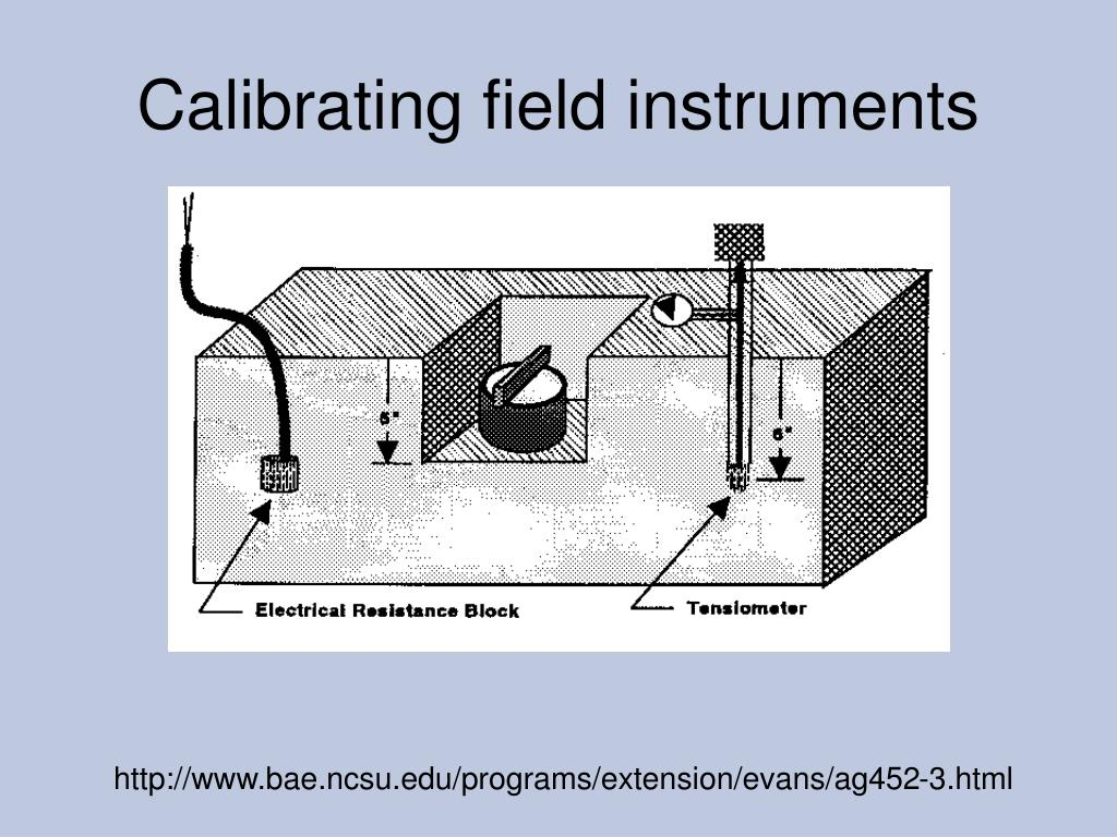 Calibrating field instruments
