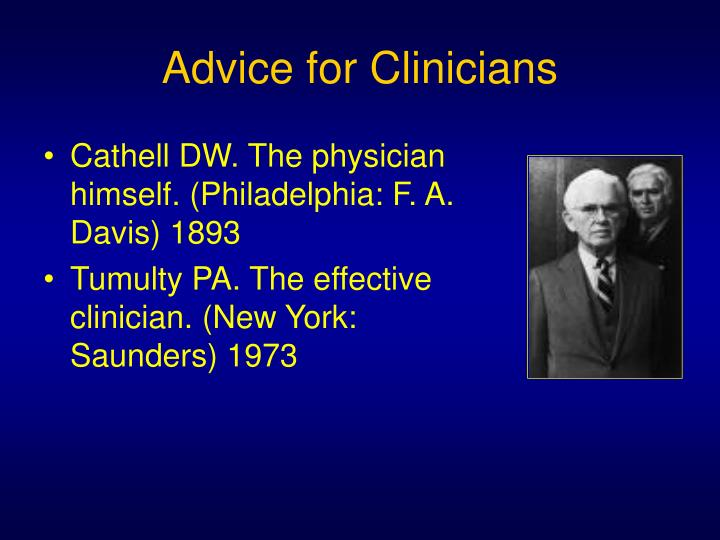 Advice for Clinicians