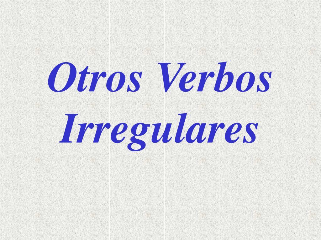 Otros Verbos