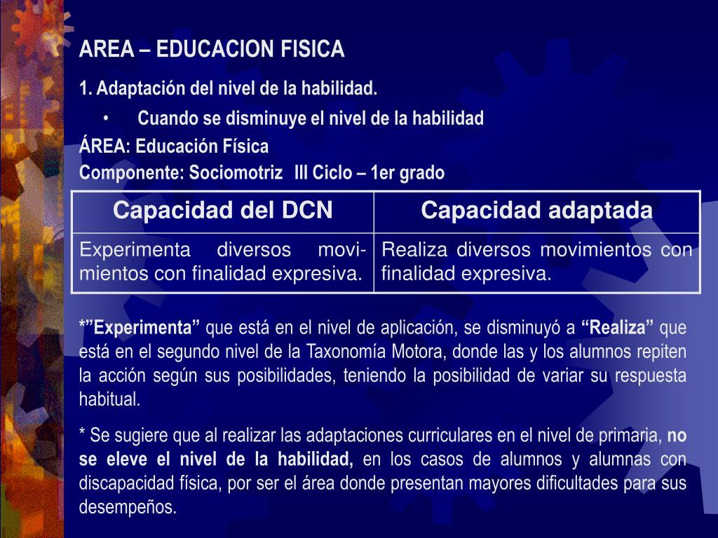 AREA – EDUCACION FISICA