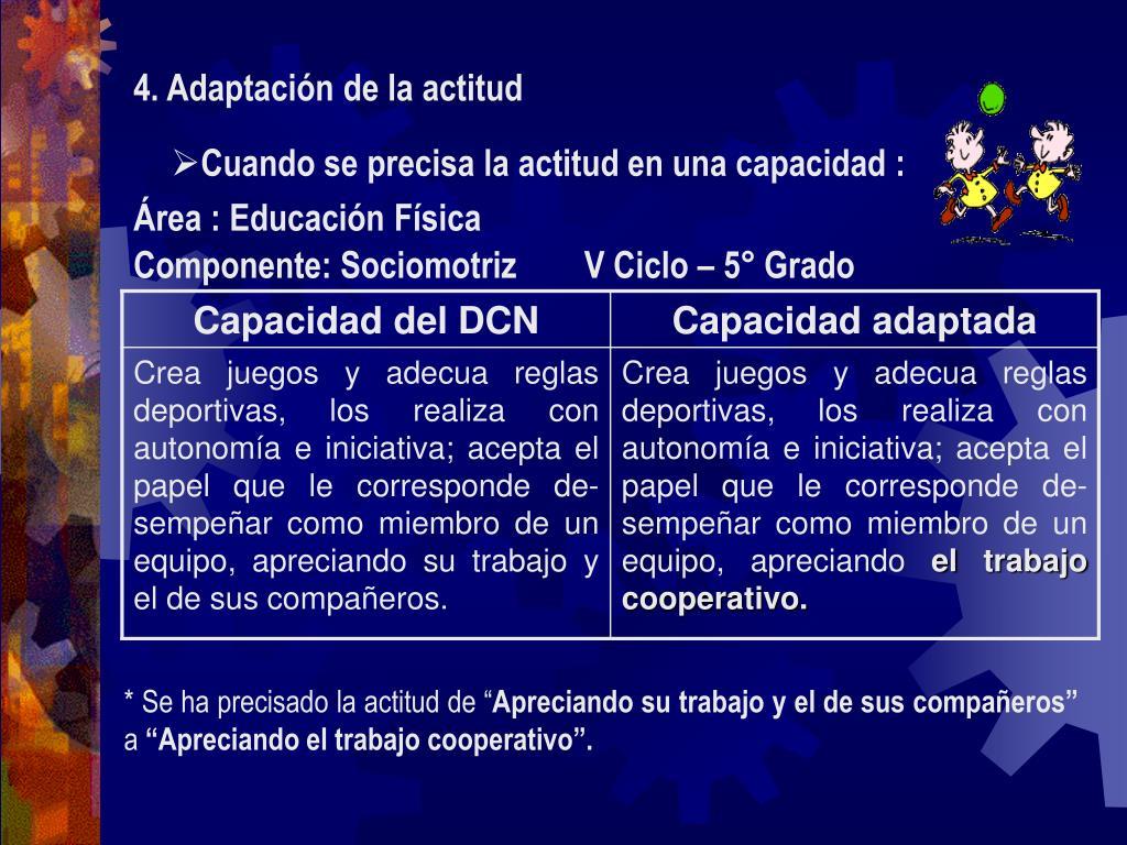 4. Adaptación de la actitud