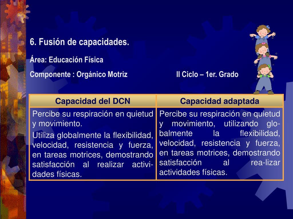 6. Fusión de capacidades.
