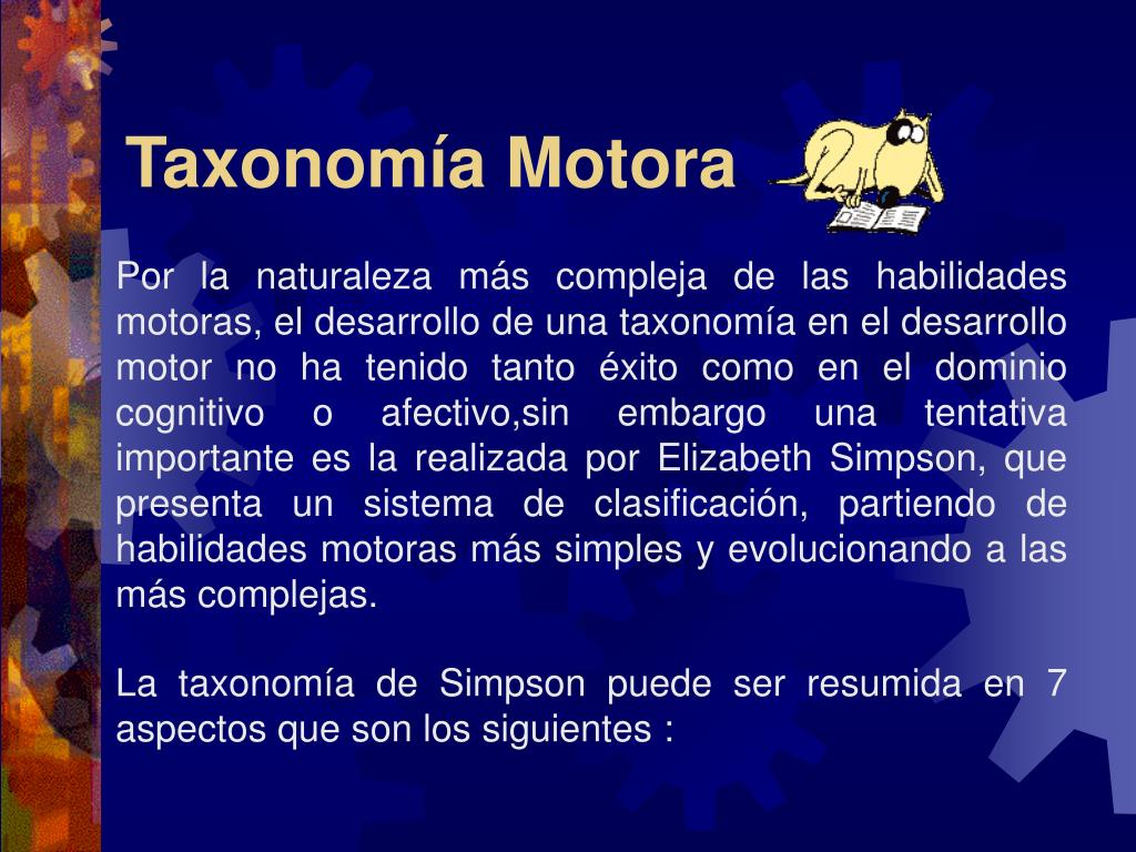 Taxonomía Motora