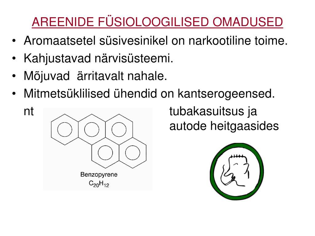 AREENIDE FÜSIOLOOGILISED OMADUSED