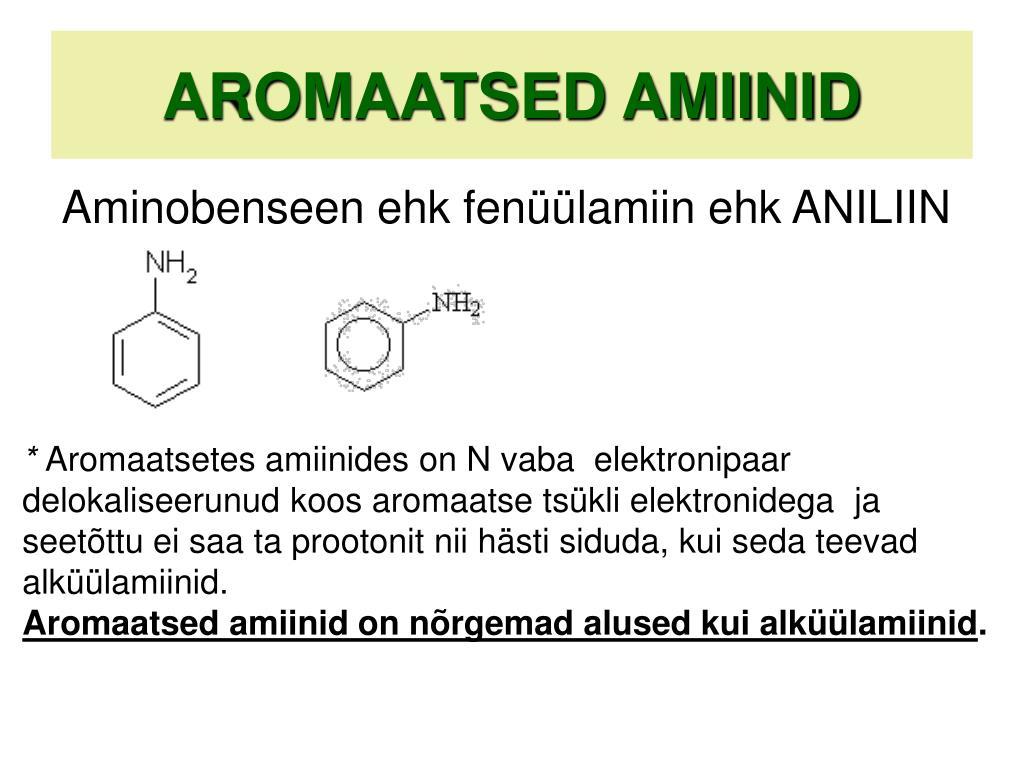 AROMAATSED AMIINID