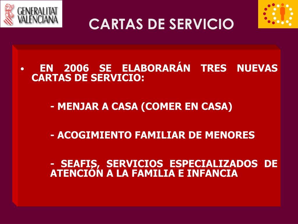 CARTAS DE SERVICIO