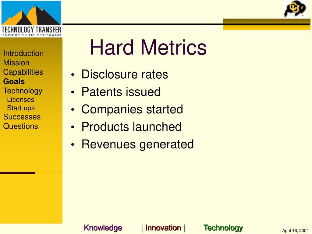 Hard Metrics