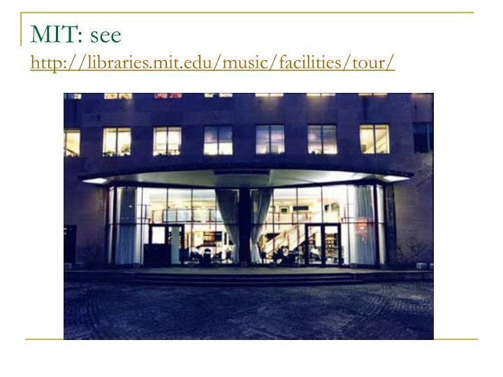 MIT: see