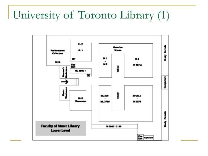 University of Toronto Library (1)
