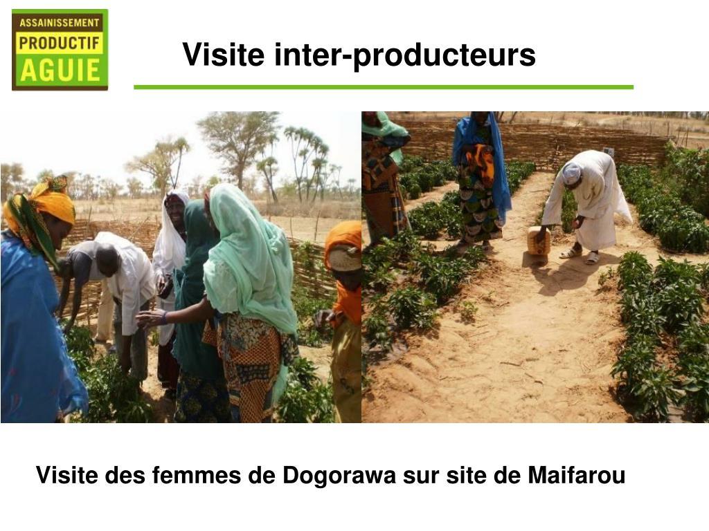 Visite des femmes de Dogorawa sur site de Maifarou