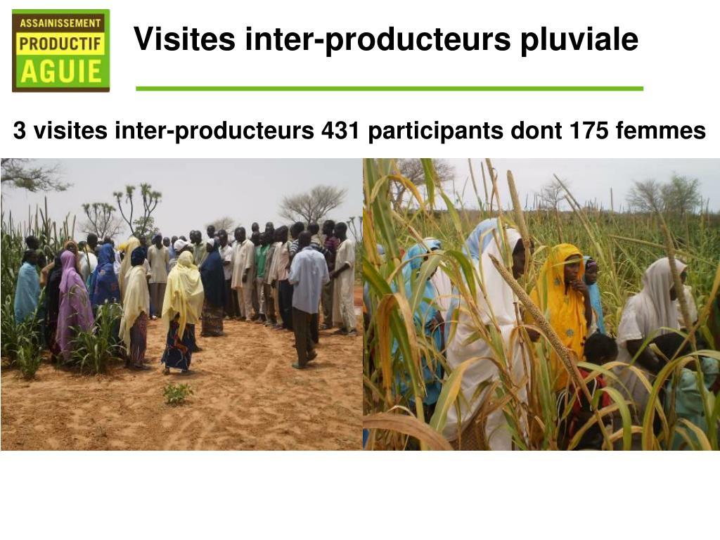 Visites inter-producteurs pluviale