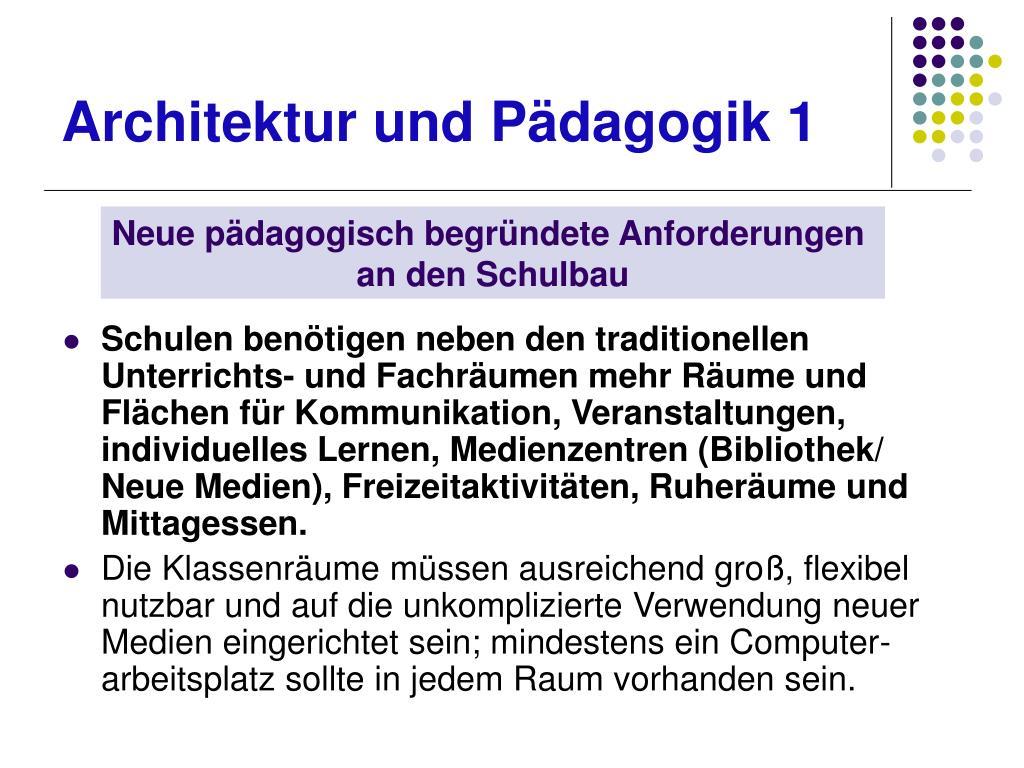 Architektur und Pädagogik 1