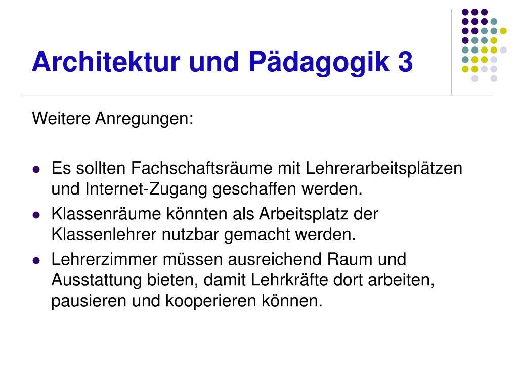Architektur und Pädagogik 3