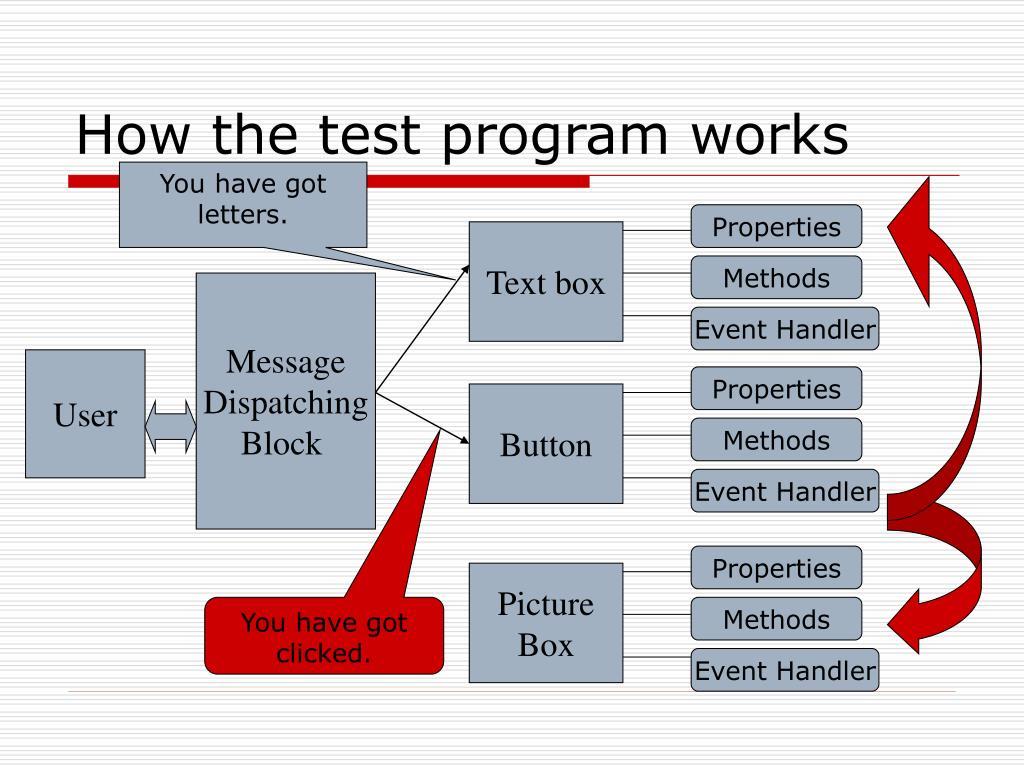 How the test program works