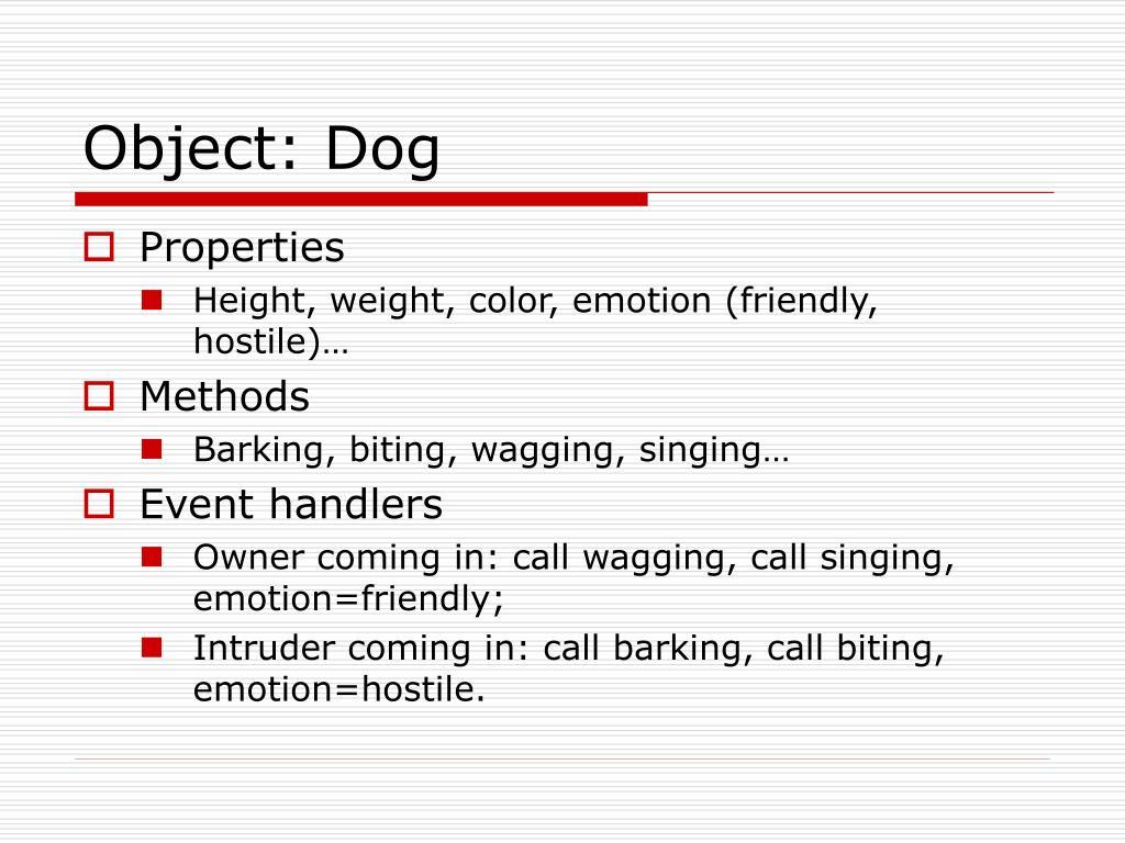 Object: Dog