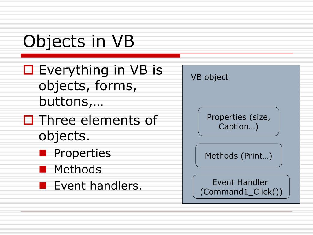 Objects in VB