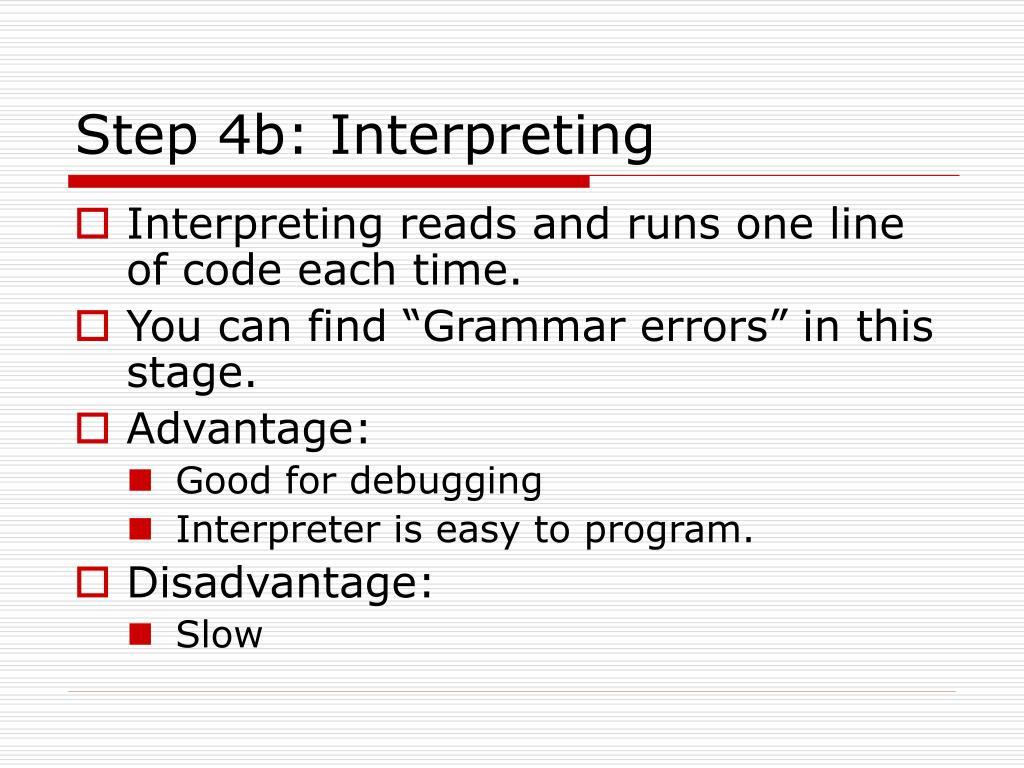 Step 4b: Interpreting