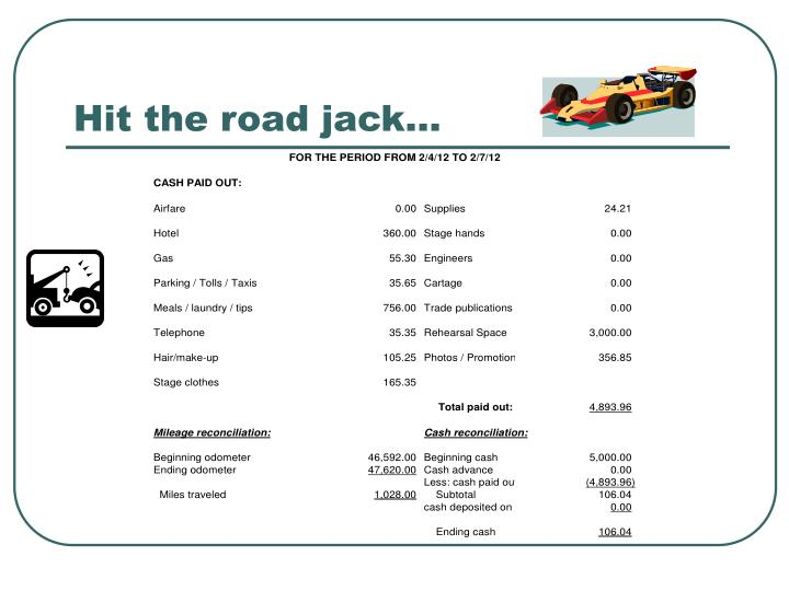Hit the road jack…