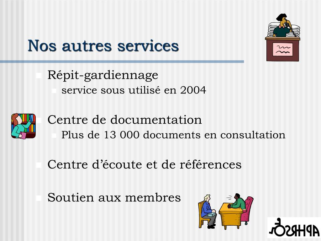 Nos autres services
