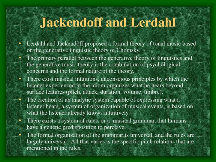 Jackendoff and Lerdahl