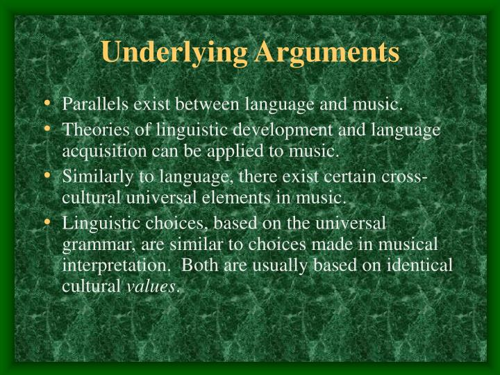 Underlying Arguments