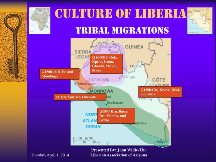 Culture of liberia tribal migrations l.jpg