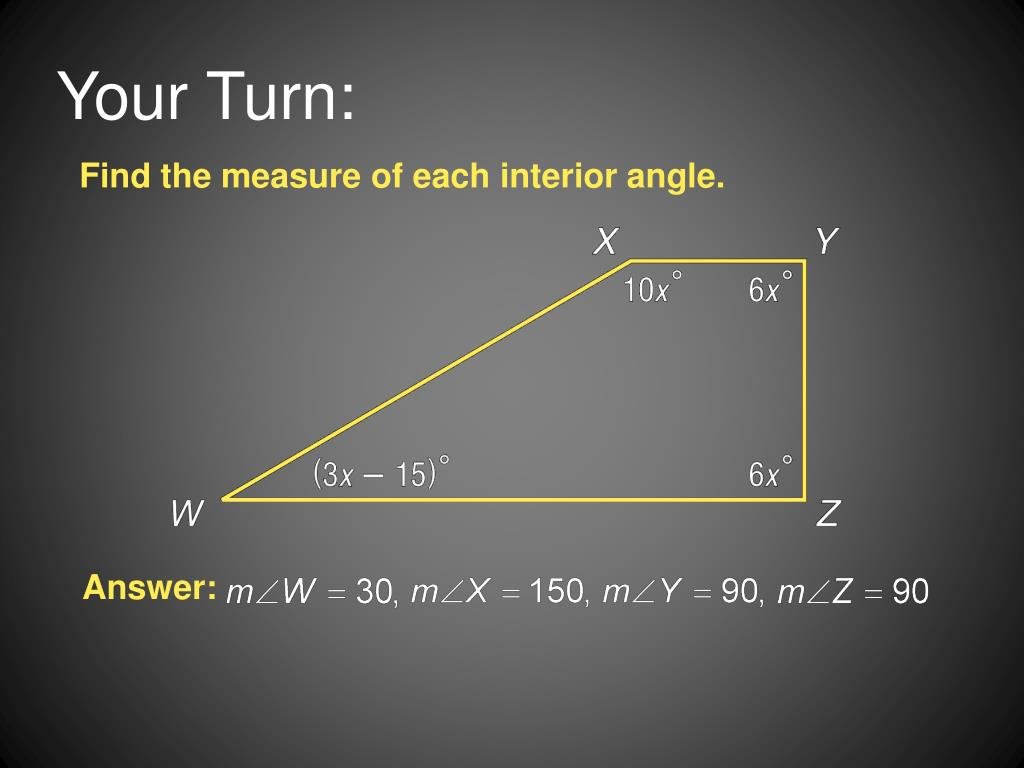 Measure Of An Angle : Ppt angles of polygons powerpoint presentation id