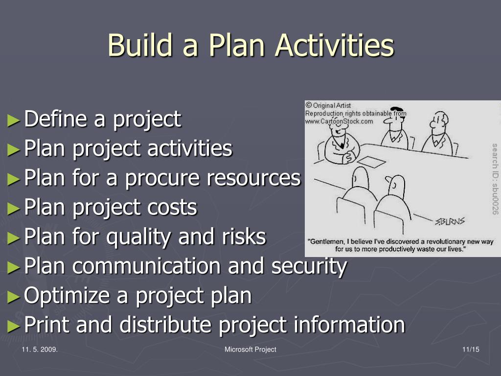 Build a Plan Activities