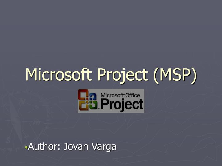 Microsoft project msp